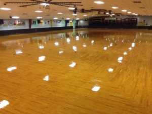 Skate Floor with new finish